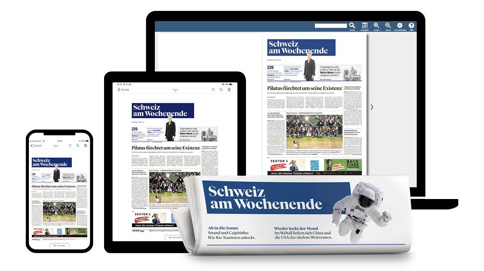 Lesen Sie die «Schweiz am Wochenende» im Web E-Paper
